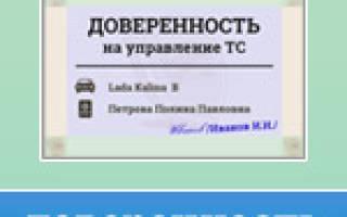 Как оформить доверенность на автомобиль в России
