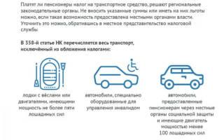 Какие автомобили не облагаются транспортным налогом